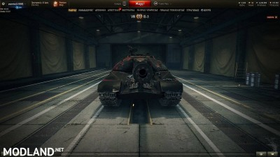 BLACK WITH RED PATTERN SKIN for IS-3 1.4 [1.4.0.1], 1 photo